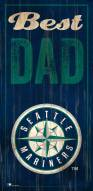 Seattle Mariners Best Dad Sign