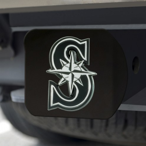 Seattle Mariners Black Matte Hitch Cover