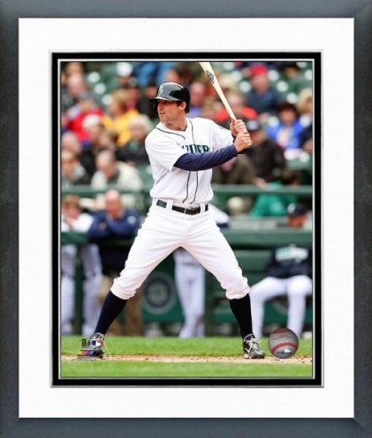Seattle Mariners Brad Miller Action Framed Photo