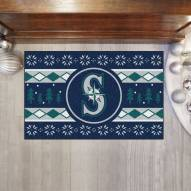 Seattle Mariners Christmas Sweater Starter Rug