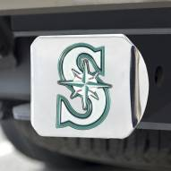 Seattle Mariners Chrome Color Hitch Cover