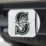 Seattle Mariners Chrome Metal Hitch Cover
