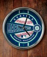Seattle Mariners Chrome Wall Clock