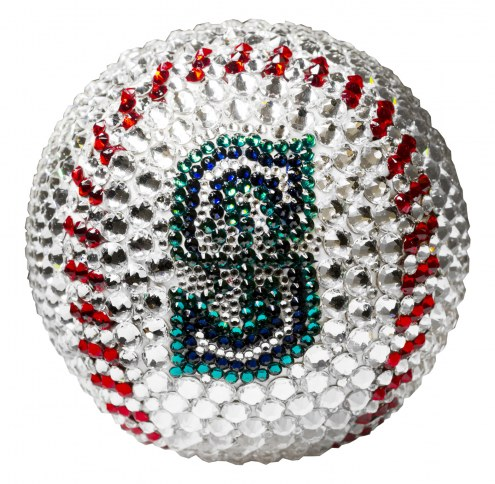 Seattle Mariners Swarovski Crystal Baseball