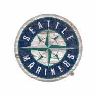 Seattle Mariners Distressed Logo Cutout Sign