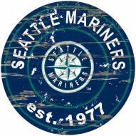 Seattle Mariners Distressed Round Sign