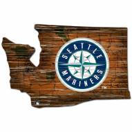 Seattle Mariners Distressed State with Logo Sign