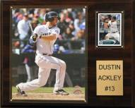 """Seattle Mariners Dustin Ackley 12"""" x 15"""" Player Plaque"""