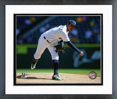 Seattle Mariners Felix Hernandez Action Framed Photo