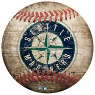 Seattle Mariners Baseball Shaped Sign