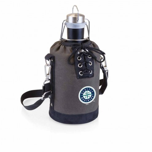 Seattle Mariners Insulated Growler Tote with 64 oz. Stainless Steel Growler