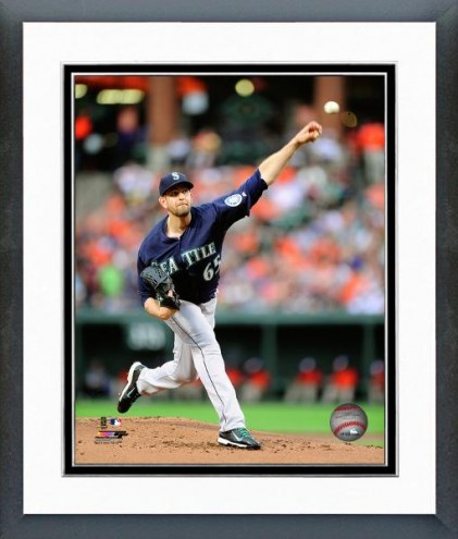 Seattle Mariners James Paxton Action Framed Photo