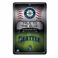 Seattle Mariners Large Embossed Metal Wall Sign
