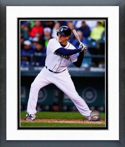Seattle Mariners Logan Morrison Action Framed Photo