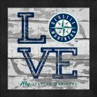 Seattle Mariners Love My Team Square Wall Decor