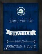 Seattle Mariners Love You to and Back Framed Print