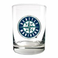 Seattle Mariners MLB 2-Piece 14 Oz. Rocks Glass Set