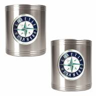 Seattle Mariners MLB Stainless Steel Can Holder 2-Piece Set