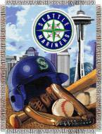 Seattle Mariners MLB Woven Tapestry Throw Blanket