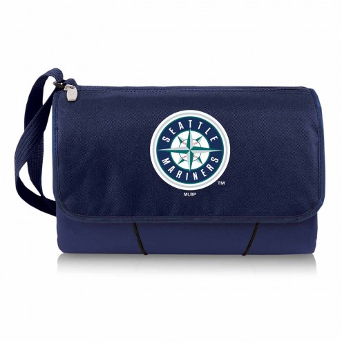 Seattle Mariners Navy Blanket Tote