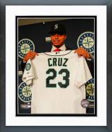 Seattle Mariners Nelson Cruz Press Conference Framed Photo