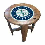 Seattle Mariners Oak Barrel Table