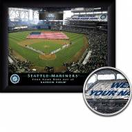 Seattle Mariners 11 x 14 Personalized Framed Stadium Print