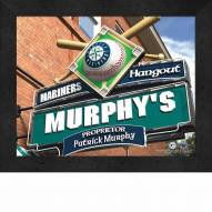 Seattle Mariners 11 x 14 Personalized Framed Sports Pub Print