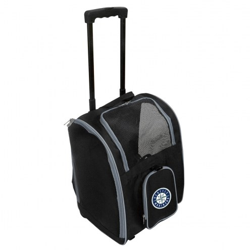 Seattle Mariners Premium Pet Carrier with Wheels