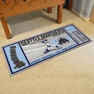 Seattle Mariners Ticket Runner Rug