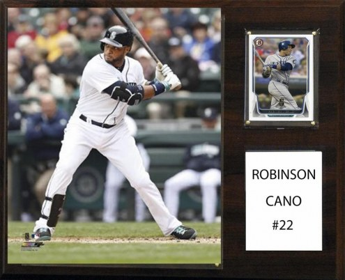 """Seattle Mariners Robinson Cano 12"""" x 15"""" Player Plaque"""