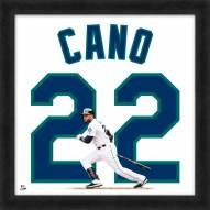 Seattle Mariners Robinson Cano Uniframe Framed Jersey Photo