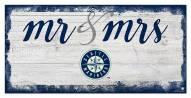 Seattle Mariners Script Mr. & Mrs. Sign