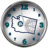 Seattle Mariners State of Mind Chrome Clock