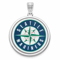 Seattle Mariners Sterling Silver Disc Pendant