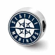 Seattle Mariners Sterling Silver Enameled Bead