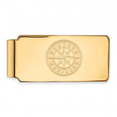 Seattle Mariners Sterling Silver Gold Plated Money Clip