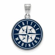 Seattle Mariners Sterling Silver Large Pendant
