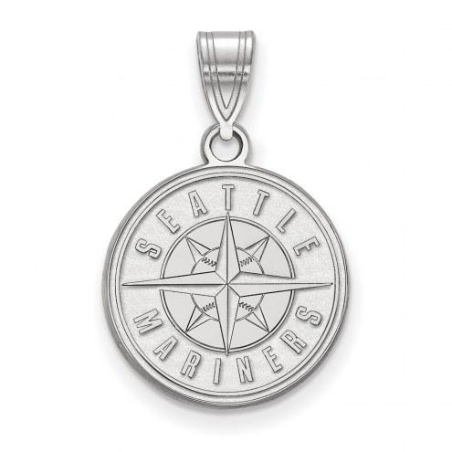 Seattle Mariners Sterling Silver Medium Pendant