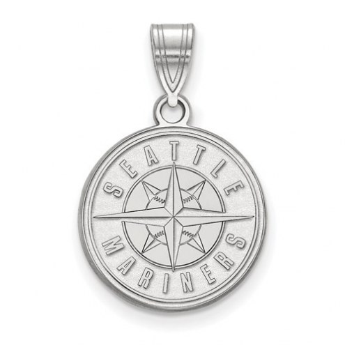 Seattle Mariners Sterling Silver Medium Pendant