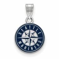 Seattle Mariners Sterling Silver Small Enamel Pendant