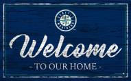 Seattle Mariners Team Color Welcome Sign