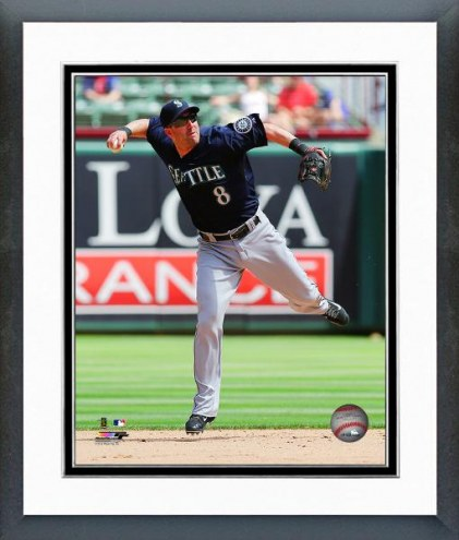 Seattle Mariners Willie Bloomquist Action Framed Photo