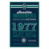 Seattle Mariners Established Wood Sign