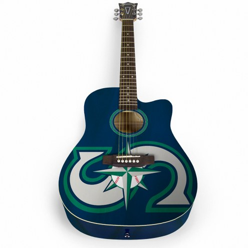 Seattle Mariners Woodrow Acoustic Guitar