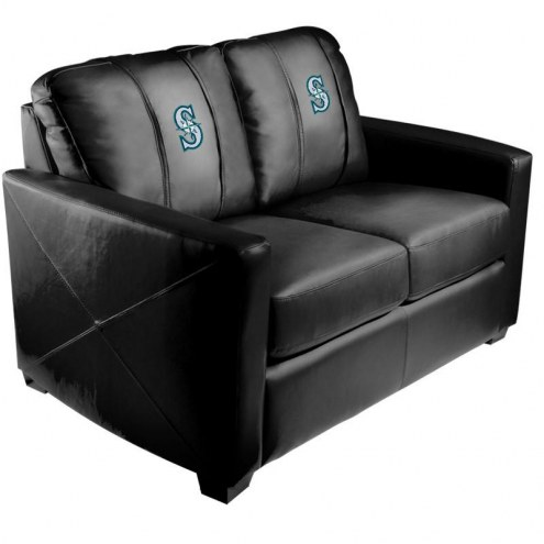 Seattle Mariners XZipit Silver Loveseat with Secondary Logo