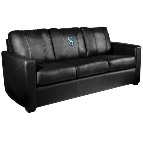 Seattle Mariners XZipit Silver Sofa with Secondary Logo