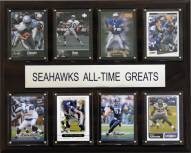 """Seattle Seahawks 12"""" x 15"""" All-Time Greats Plaque"""