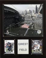 "Seattle Seahawks 12"" x 15"" Qwest Stadium Plaque"
