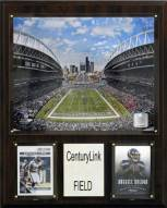 """Seattle Seahawks 12"""" x 15"""" Stadium Plaque"""